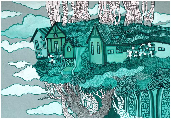 Malachite Houses by yanadhyana