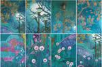 Emerald Garden (fragments of wall mural)