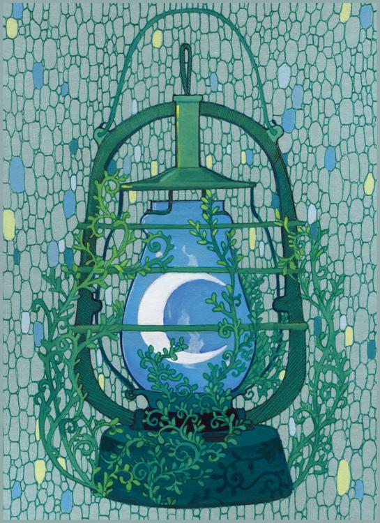 Moon in the Lantern by yanadhyana