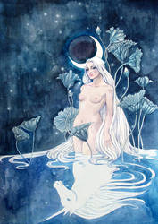 The Nymph Reflection by yanadhyana