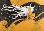 Moonlight in her Hair by yanadhyana