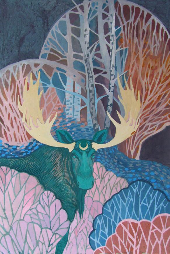 Emerald Moose by yanadhyana