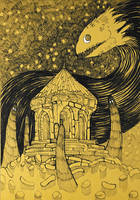 Inktober: Night Ritual by yanadhyana