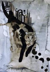 Catvember:  City Cat by yanadhyana