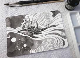 Inktober: Whale