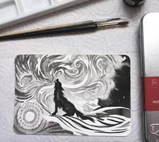 Inktober: Wolf by yanadhyana