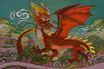 Fire Autumn Dragon