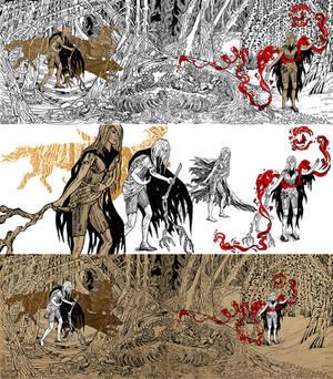 Ghostlypale. WIP. Illustrtion 1