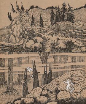 First Settlement. Forest Walk
