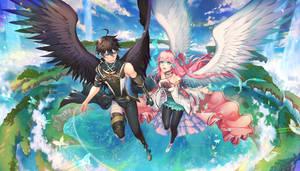 Commission : Kaito and Nadeshiko