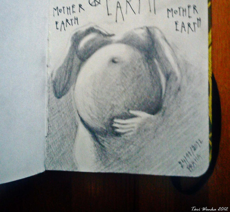 Mother Earth - small sketch from my pocket sketchb by TariWonka