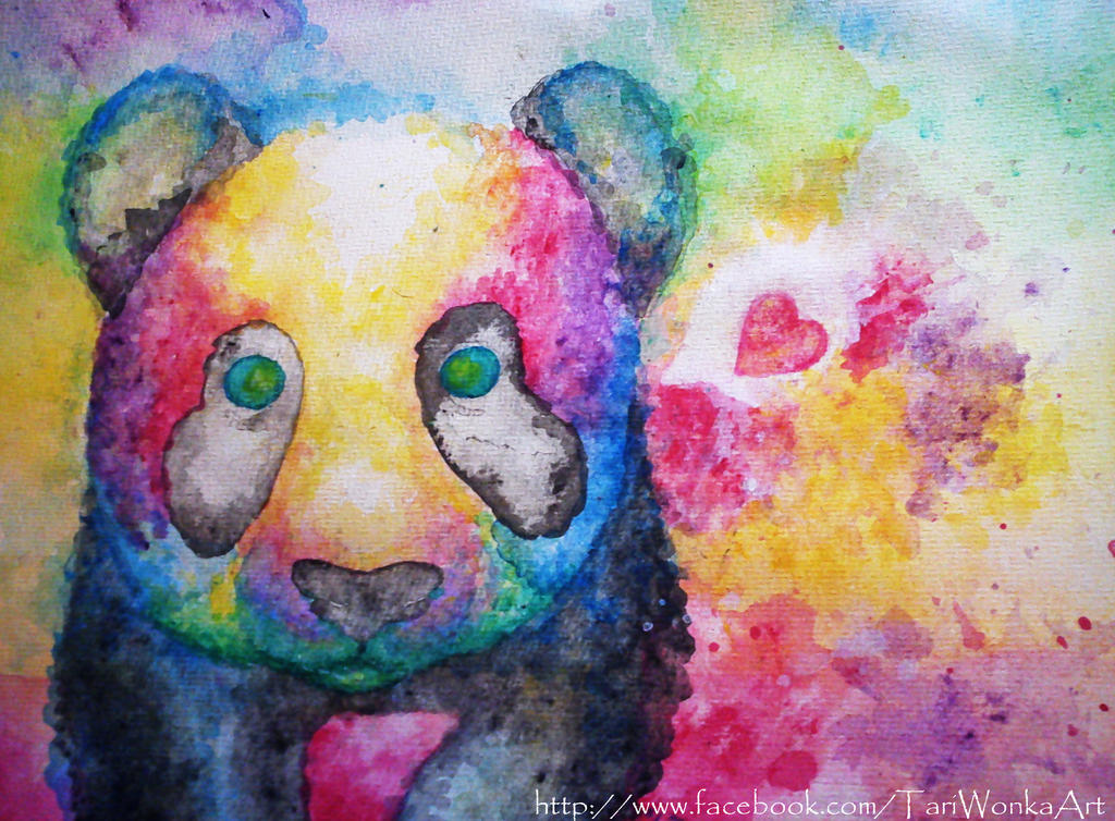 rainbow panda by TariWonka on DeviantArt