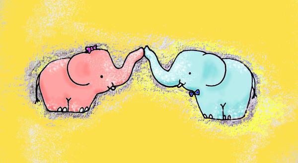 Elephant Love by Miss-Fantayjah on DeviantArt - photo#28