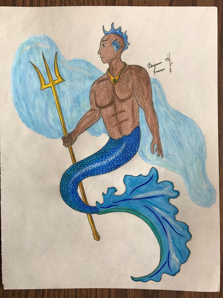Young Poseidon by WindowRattler