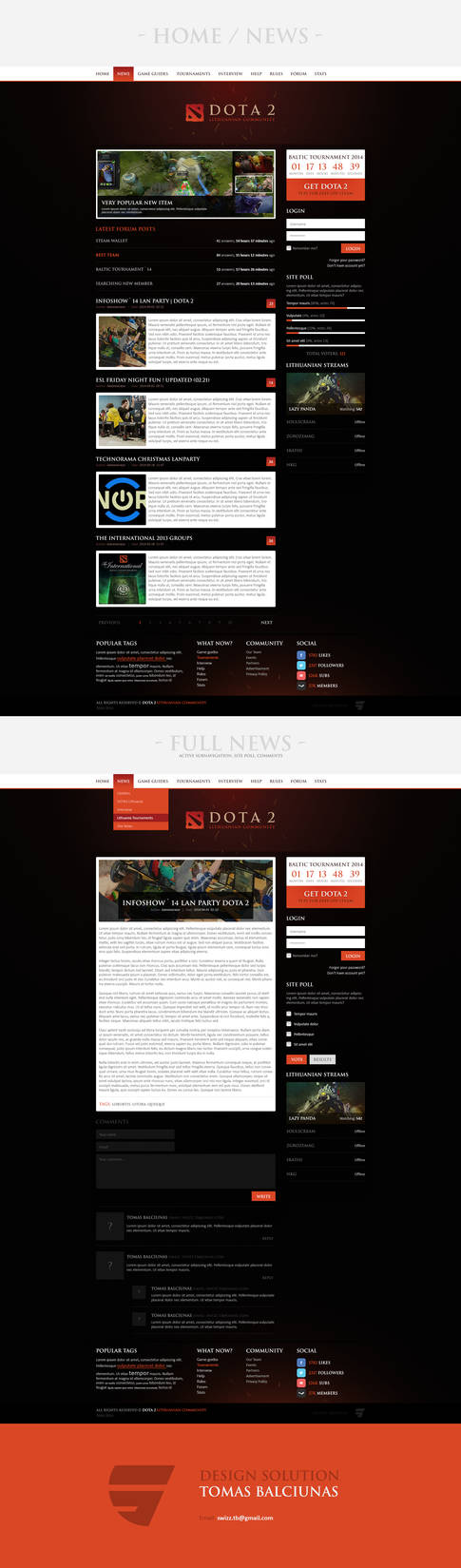 DOTA 2 Community Website * FOR SALE