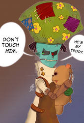 Don't Touch His Teddy Bear