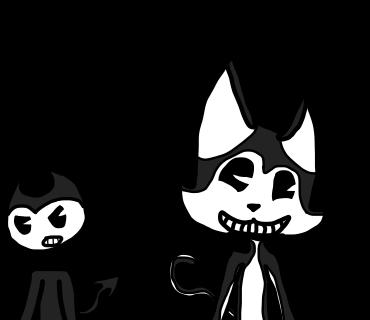 Bendy and Fake Bendy by Darkamil