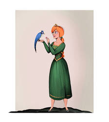 Princess Fiona and ... That poor bird. by didouchafik