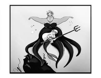 Ursula vs Ariel doodle by didouchafik