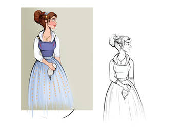 Belle - Costume Study by didouchafik
