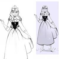 Princess Aurora - Briar Rose Doodle