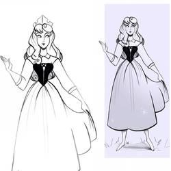 Princess Aurora - Briar Rose Doodle by didouchafik