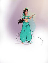 Naomi Scott as Princess Jasmine by didouchafik