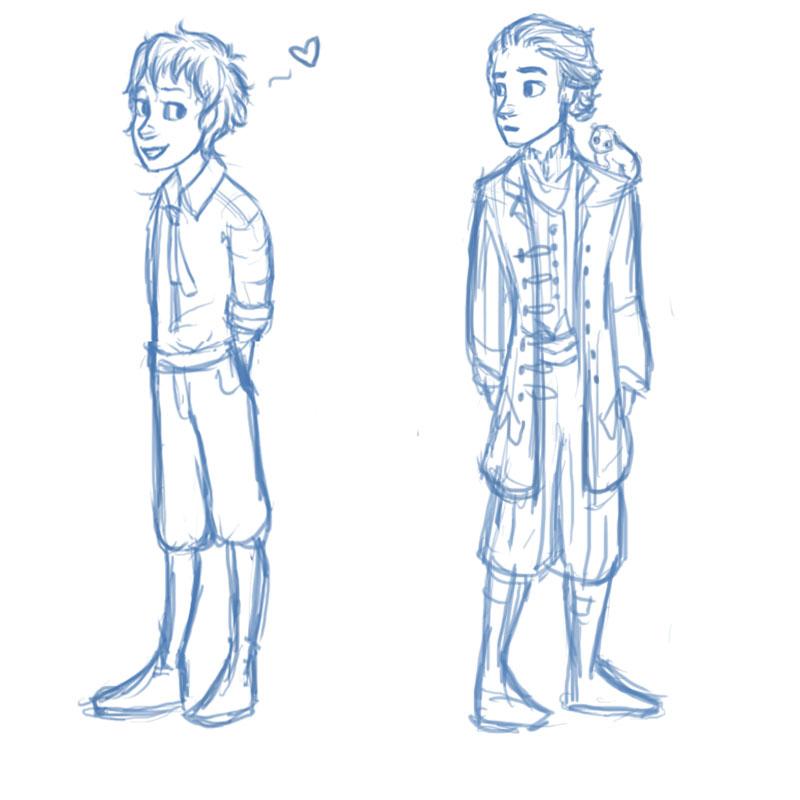 alek and deryn sketch by stkidd