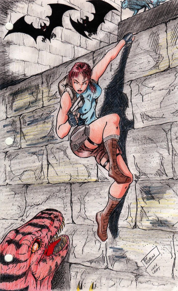 Lara Croft Retro Tomb Raider by Jinyol