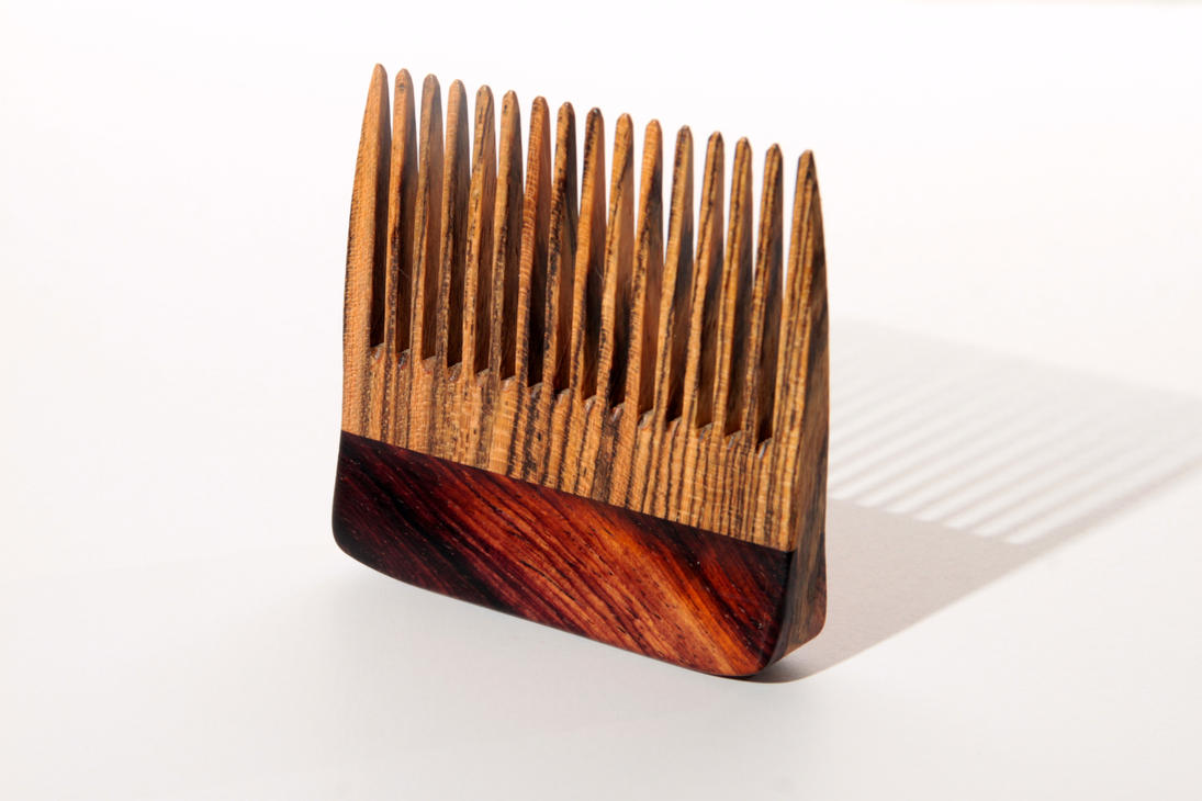 Wooden Beard Hair Comb Big T Woodworks By