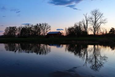 Blue Hour Pond