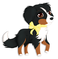 [Commission] Chibi Bernesse Mountain Dog by MissBlackNails