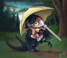 Speed Drawing: Bird Folk by Wolfvane14