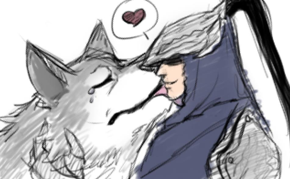 Ono Artorias And Sif Doodle by BelovedRain