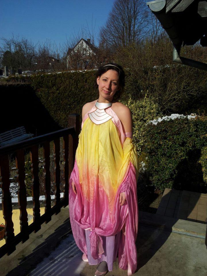 Padme Amidala pastel lake gown by Damarya on DeviantArt