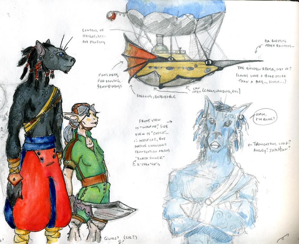 sketchdump - airshippppp by unwanderinggirl