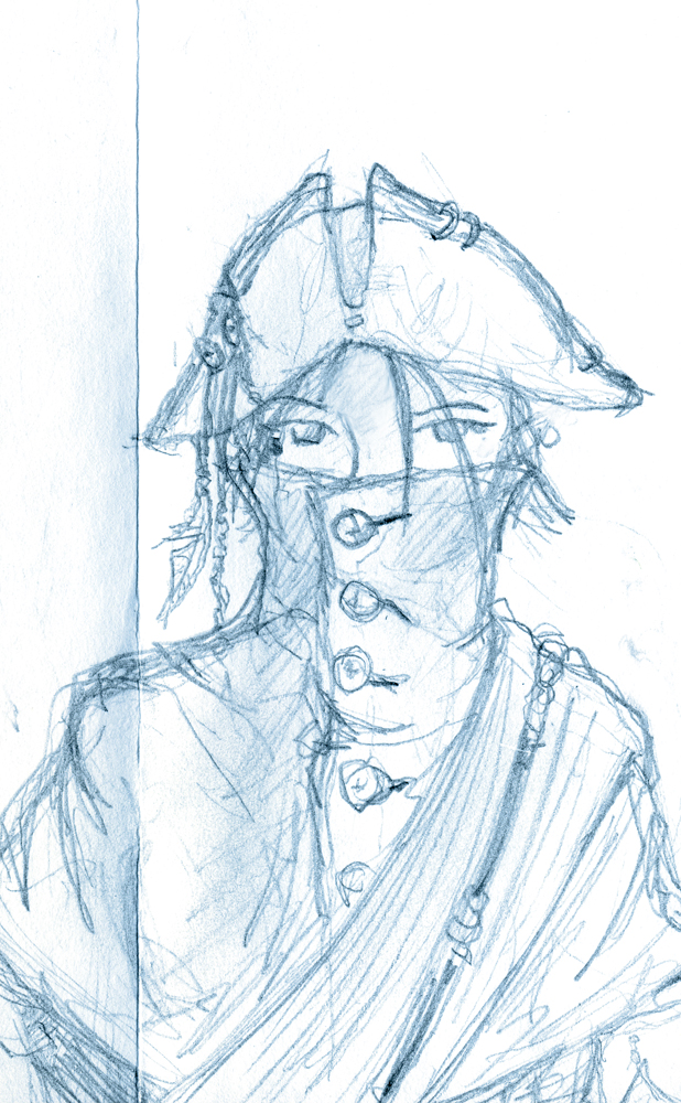 sketchdump - hat n sash by unwanderinggirl