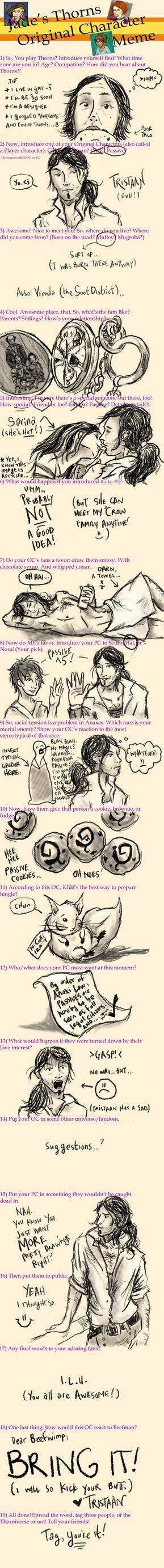Tristaanian's Thorns Meme by unwanderinggirl