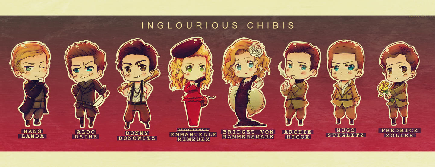 Inglourious chibis by Pacbee