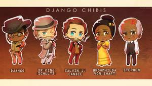 Django chibis by Pacbee
