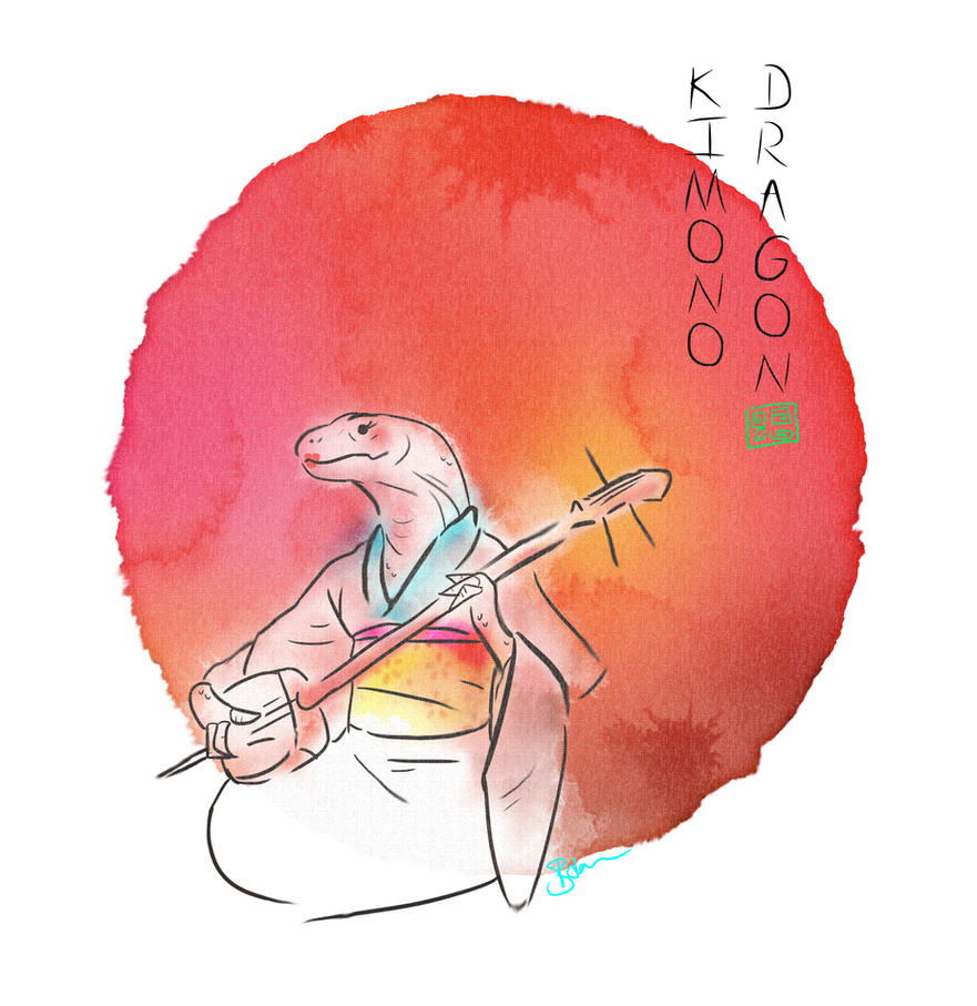 Kimono Dragon by Pacbee