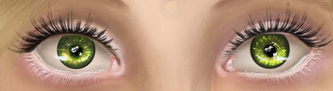 Green eyes details by Annanonyma