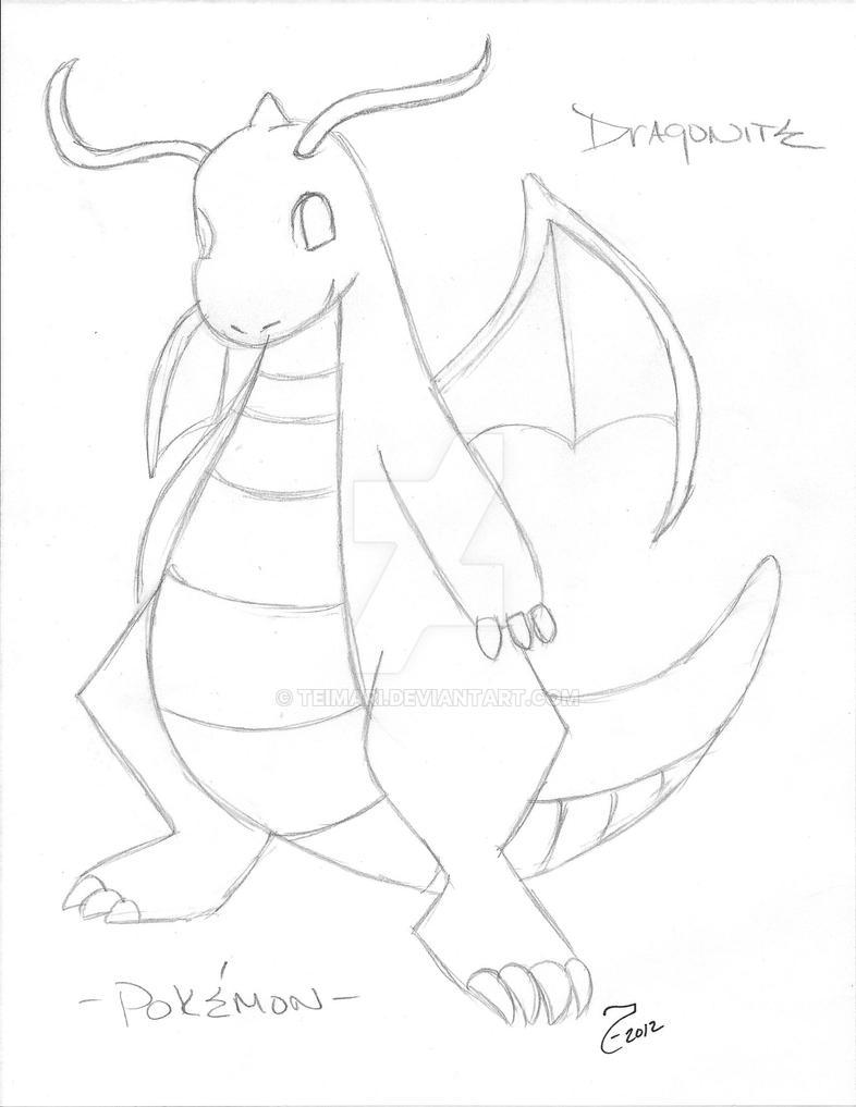 Dragonite pokemon by teimari on deviantart - Mewtwo pagina da colorare ...