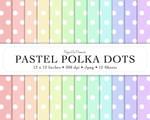 Digital Scrapbook Paper - Pastel Polka Dots