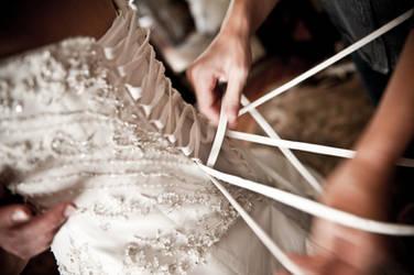 Wedding - Threading the Dress by bellsandy