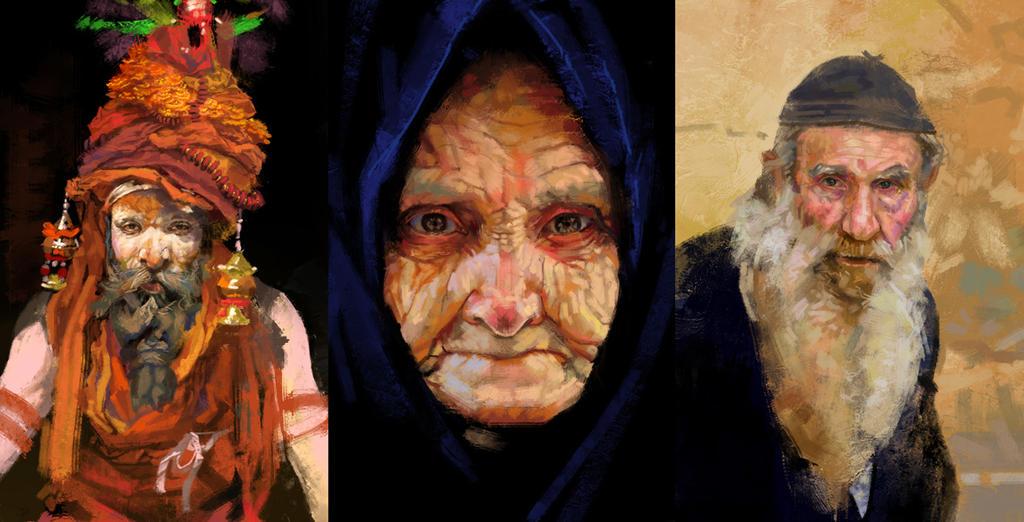 Faces Study by DoganOztel