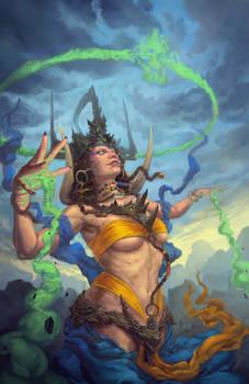 Corrupted Chaman Queen by DoganOztel