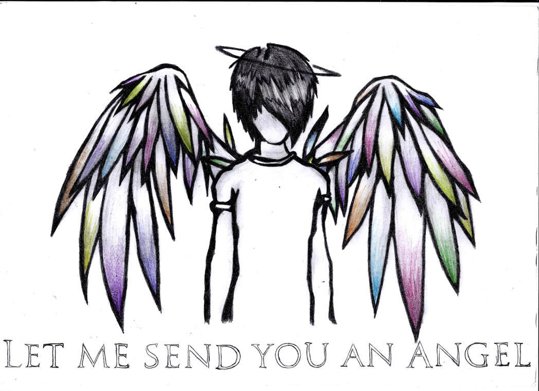 emo drawings of angels emo drawings of fallen angels