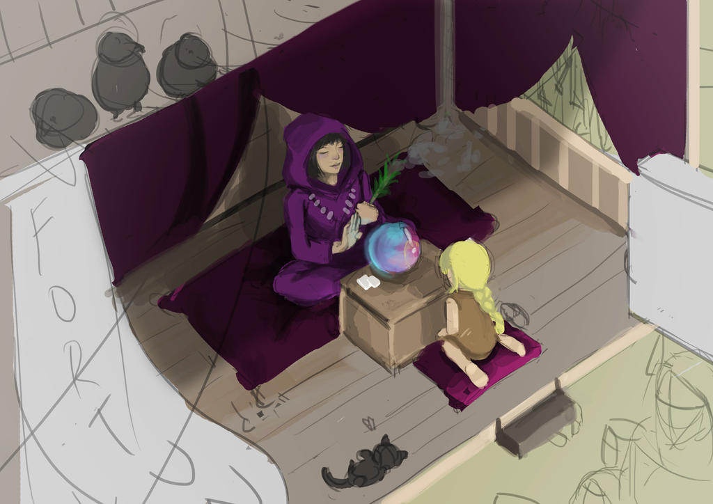 Fortune-telling WIP by Syahiirah