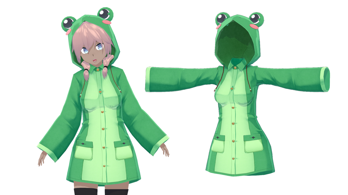 Cm3d2 Frog Coat Dl By Akemiwhy On Deviantart